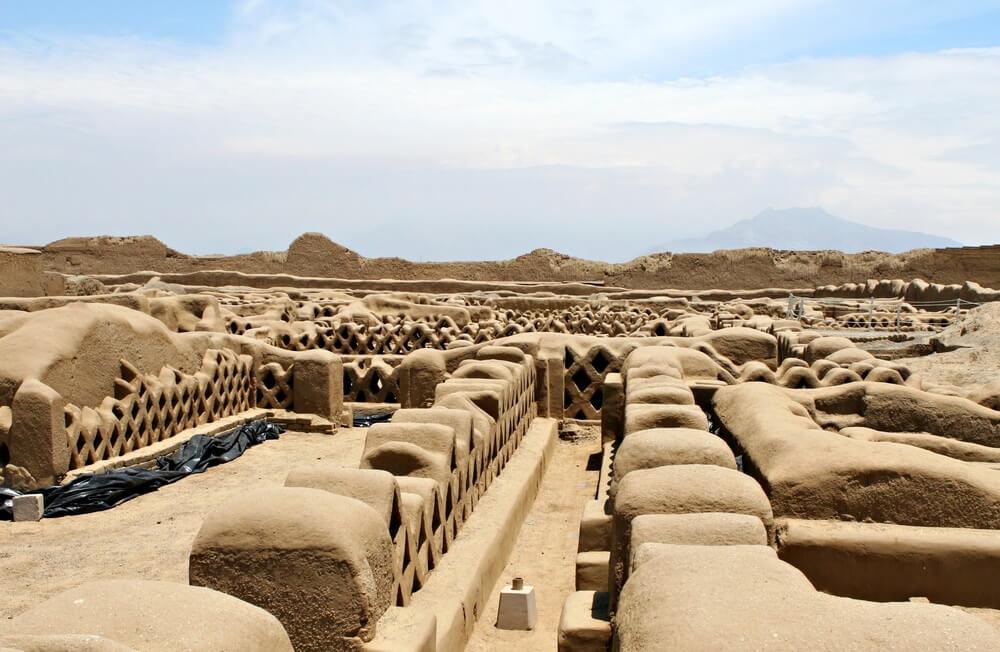 Chan Chan-ruïnes in Peru.
