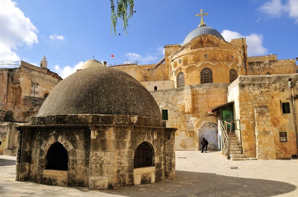 Koepel op de kerk van het Heilig Graf in Jeruzalem, Israël.