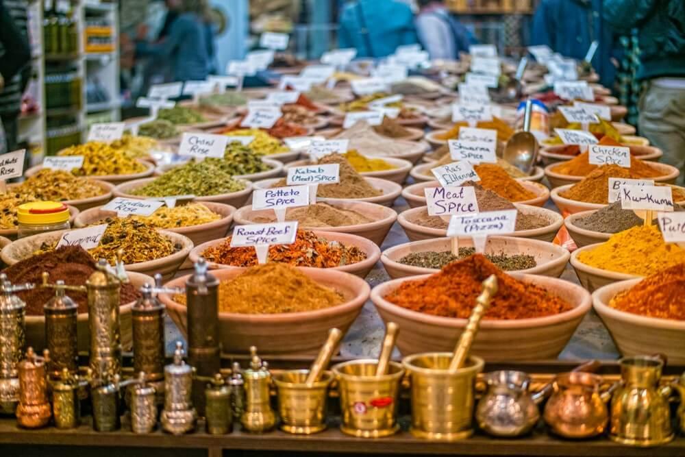 Kruiden op de markt in de oude stad Jeruzalem, Israël.