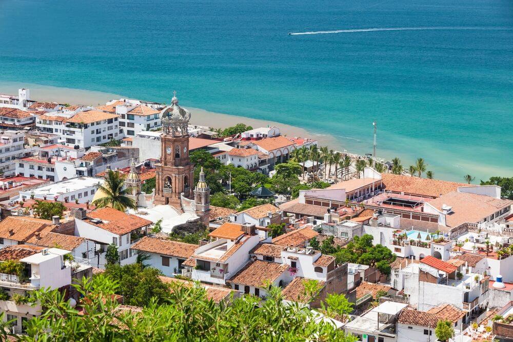 Panoramisch uitzicht op het centrum van Puerto Vallarta, Mexico