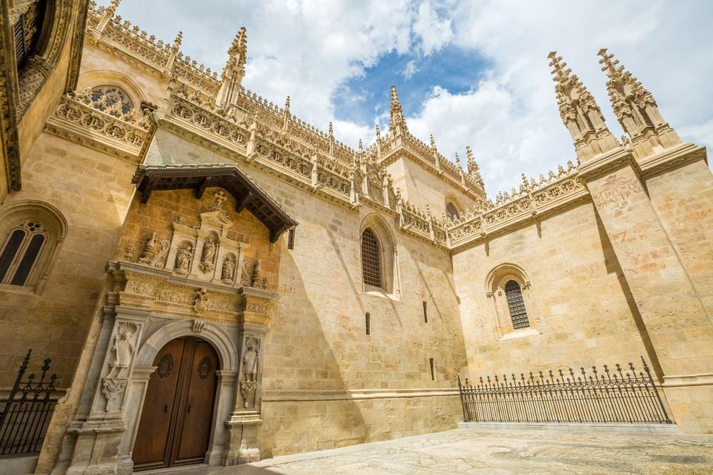 Ingang van Koninklijke Kapel in de Kathedraal van Granada, de stad van Granada, Andalusia, Spanje.