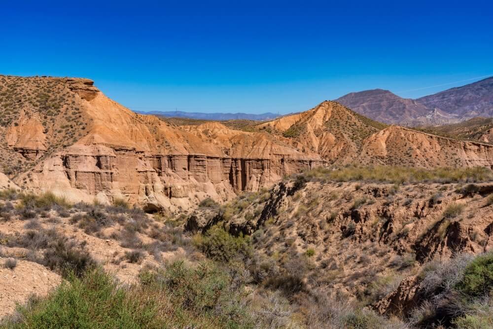 Tabernaswoestijn, in Spaanse Desierto de Tabernas, Andalusië, Spanje.