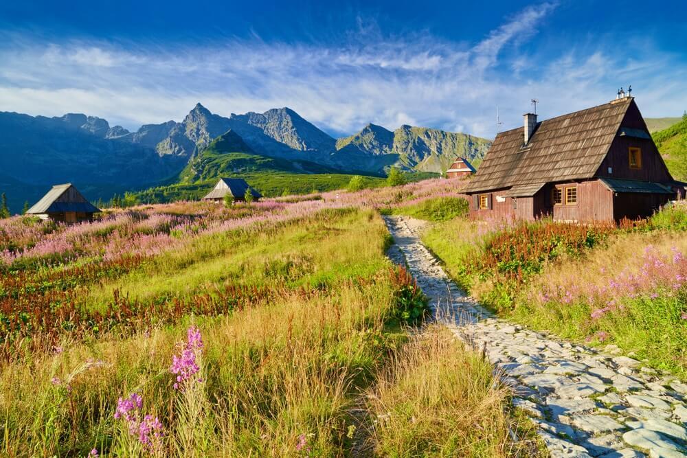 Prachtig natuurlandschap Gasienicowa Valley Hoge Tatra gebergte nationaal park. Karpaten, Polen.