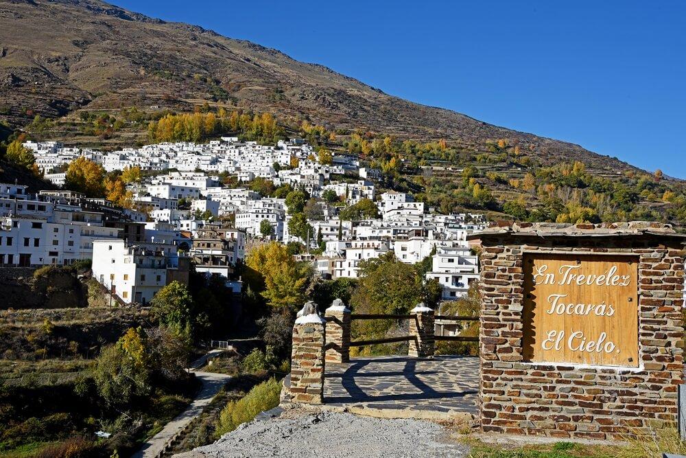 Trevelez-stad in Sierra Nevada, Granada