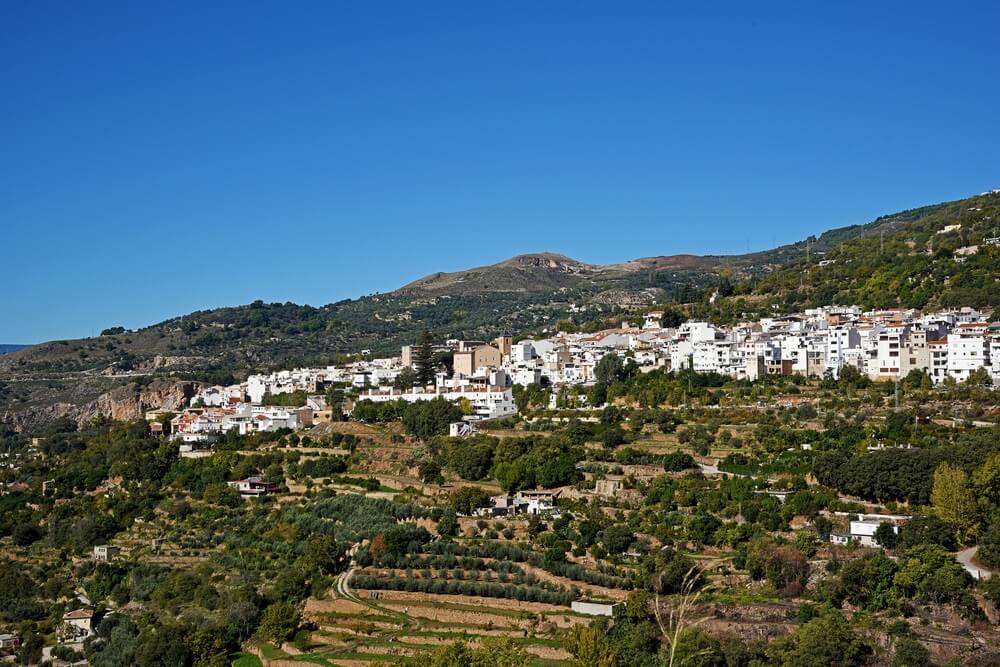 Lanjaron Town, provincie Granada, Andalusië, Spanje