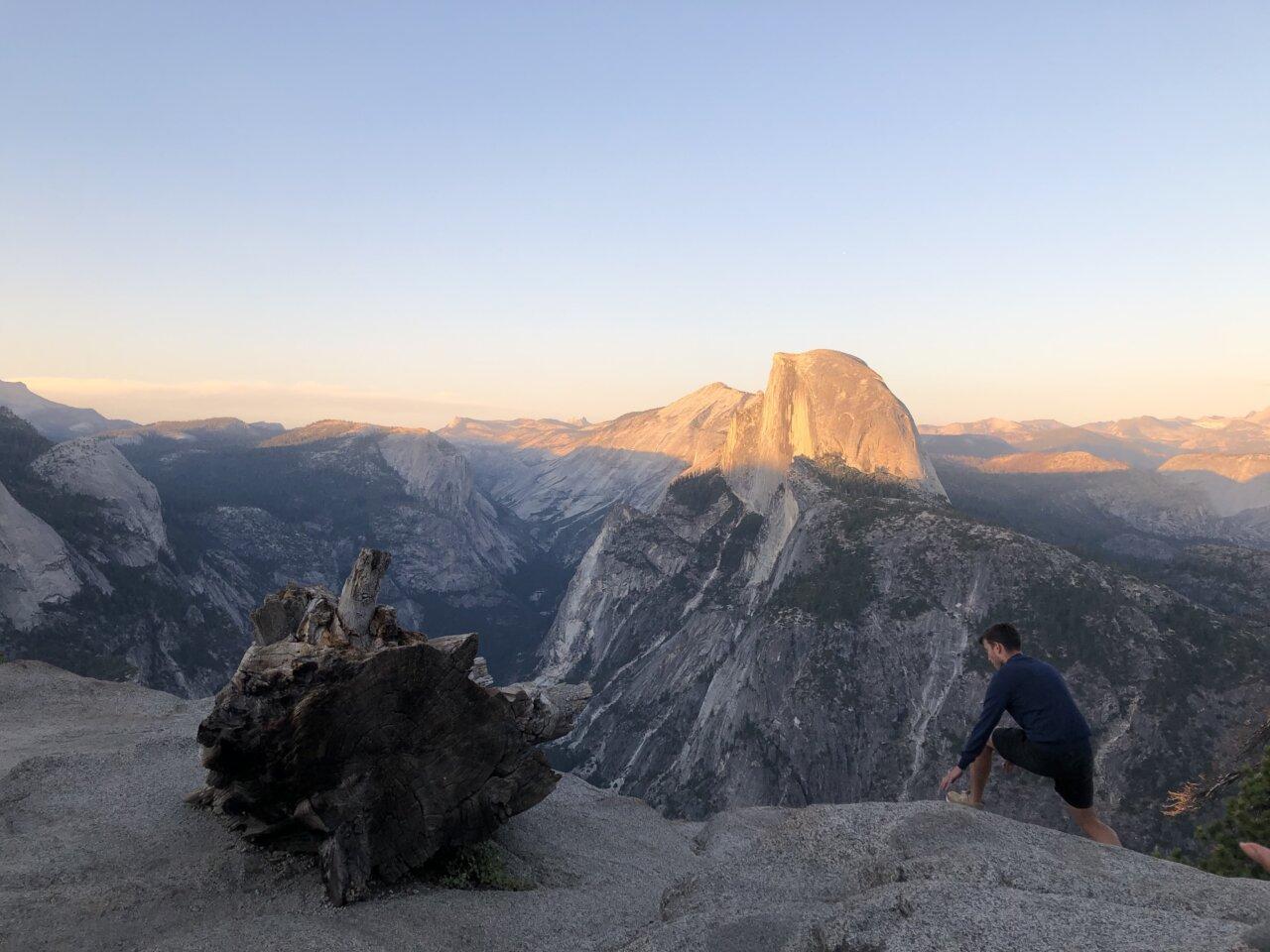 Yosemite National Park uitzicht op Half Dome