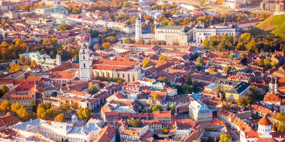 Luchtfoto van Vilnius, Litouwen.