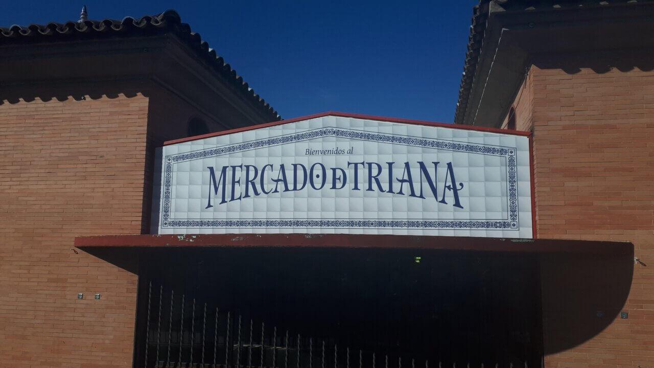 Bord van Mercado de Triana, Sevilla.