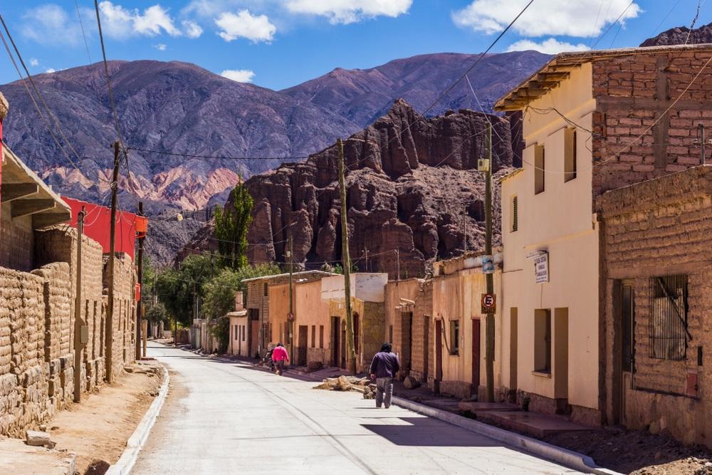 Tilcara City in de provincie Jujuy - ten noorden van Argentinië.