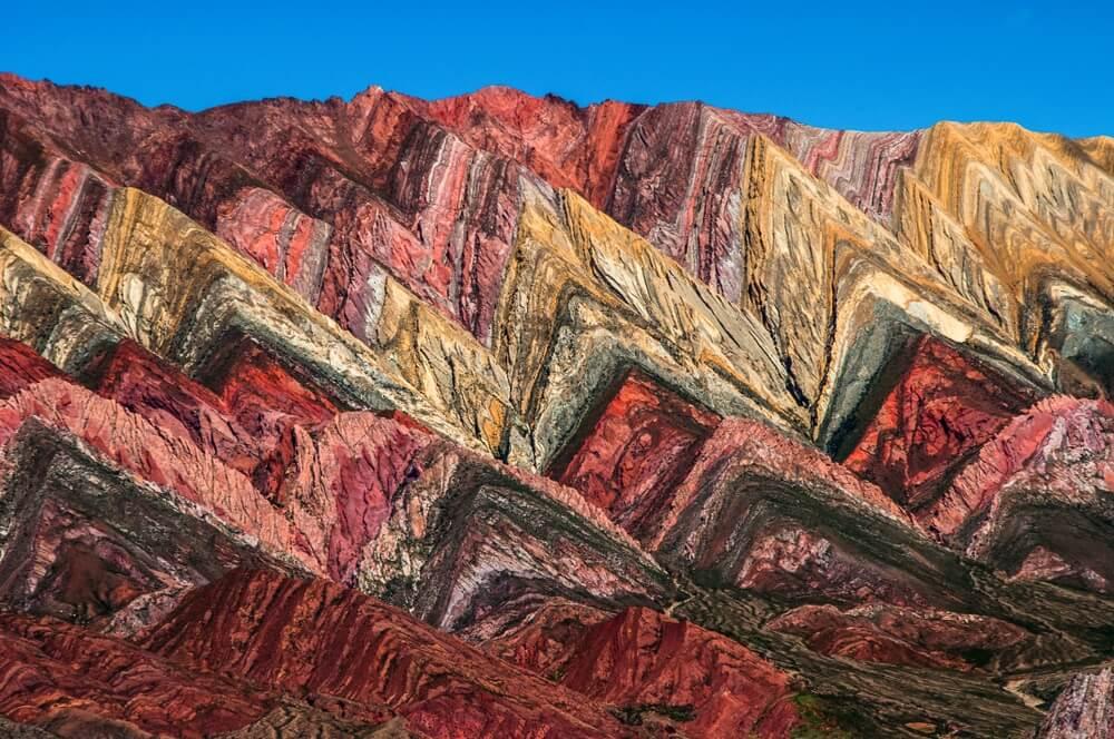 Quebrada de Humahuaca en de kleurrijke bergen, Salta - Argentinië.