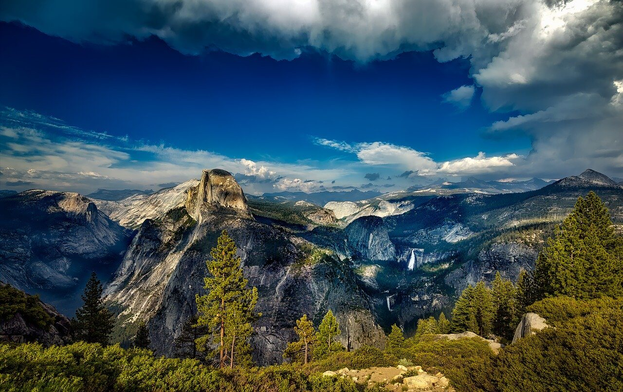 Yosemite National Park groen landschap