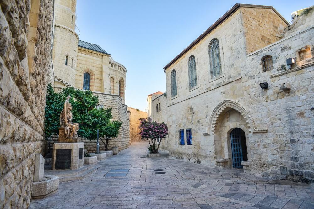 Straatje in het oude centrum van Jeruzalem.