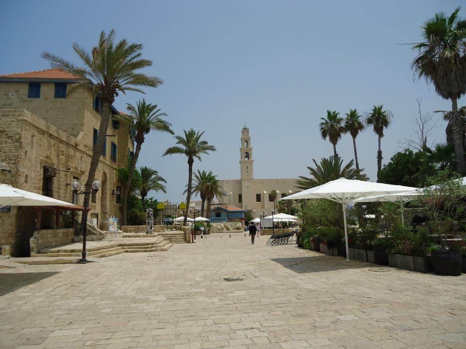 Centrale plein in het centrum van het oude Jaffa, Tel Aviv.
