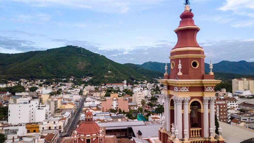 Overzicht over Salta stad, Argentinië