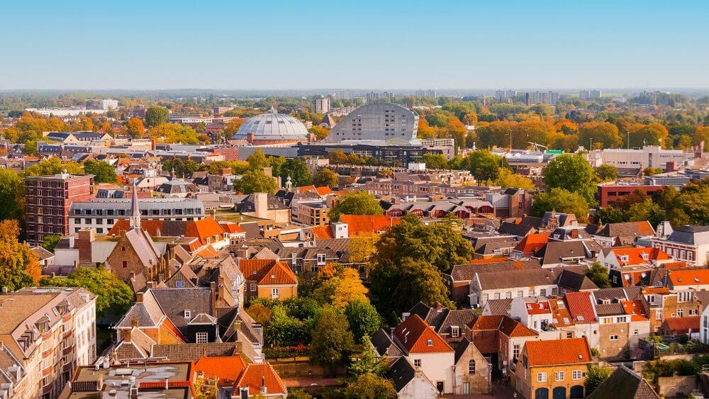 Luchtfoto. Breda. Nederland.