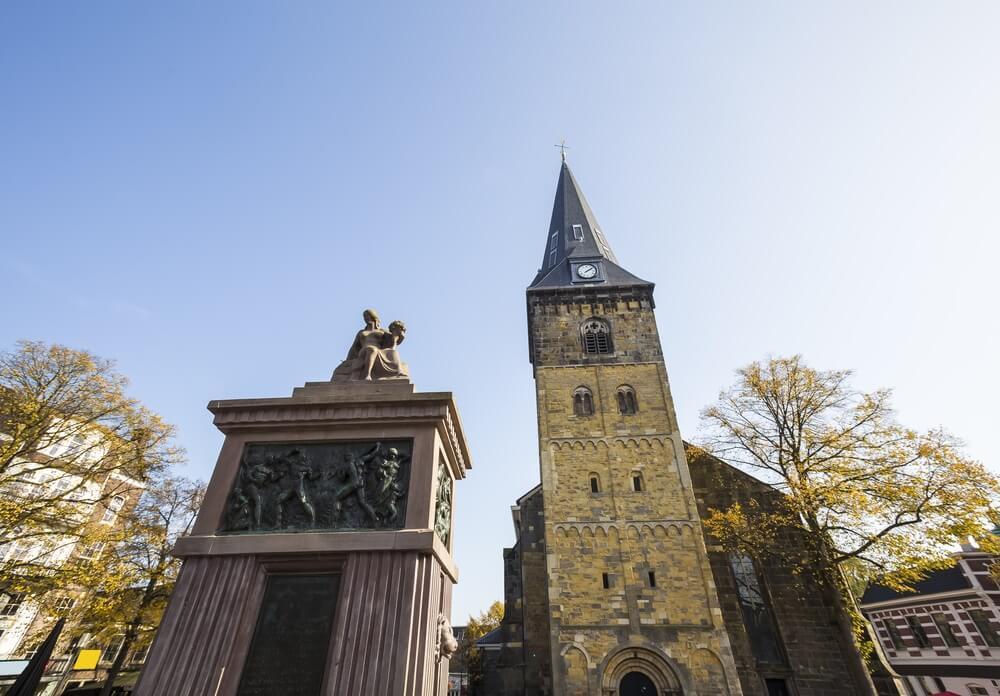 De grote kerk van Enschede, Nederland.