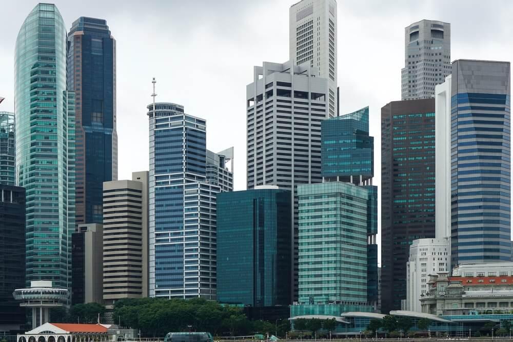 Zakelijke gebouwen in hartje Singapore