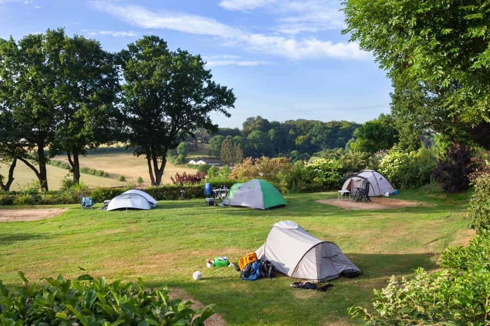 Boeren camping in Zuid-Limburg.