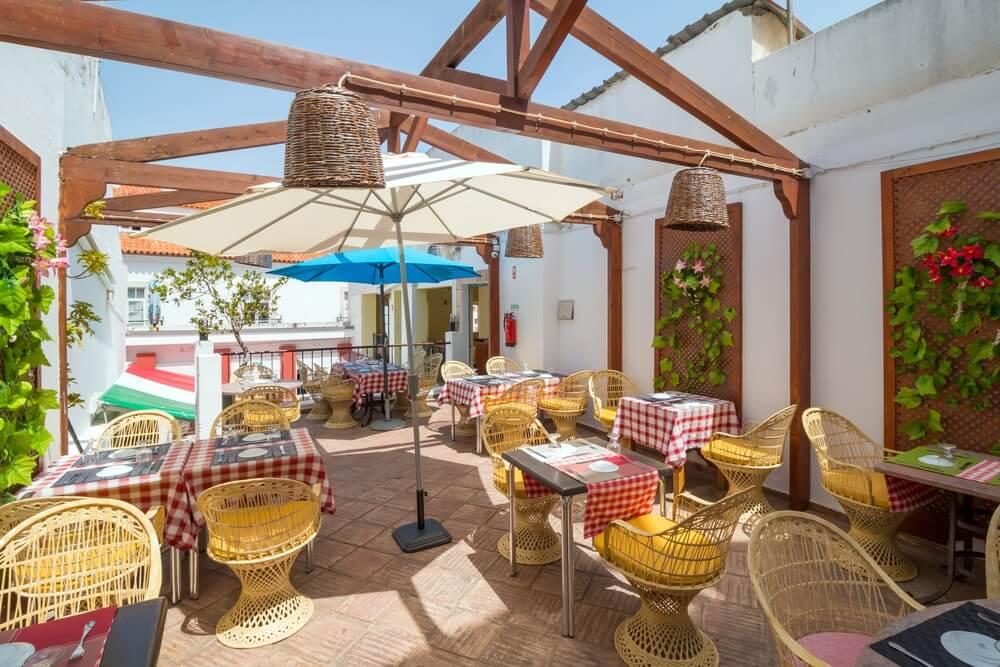 Italiaans restaurant in Lipari, Sicilië, Italië.