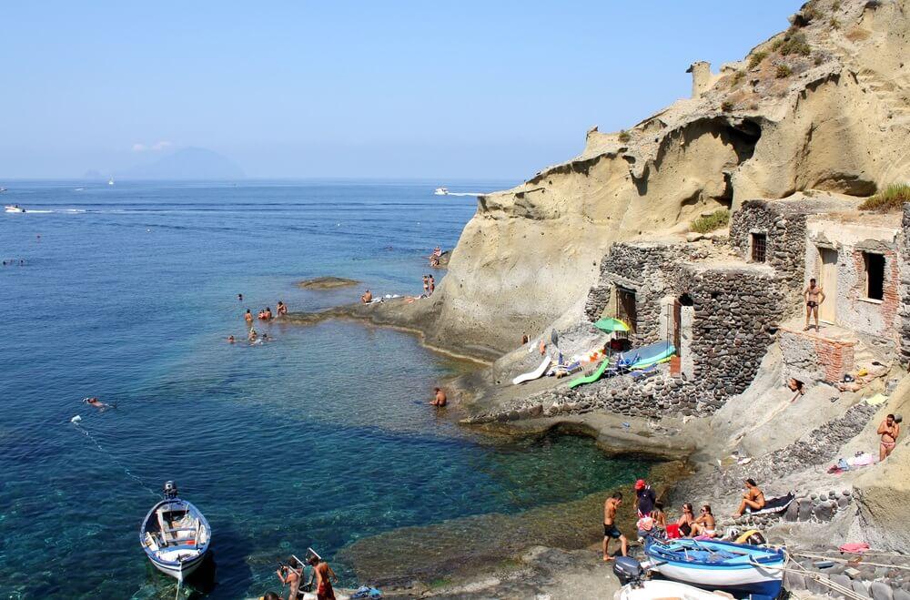 Beroemde Italiaanse Salina Beach View - Sicilië.