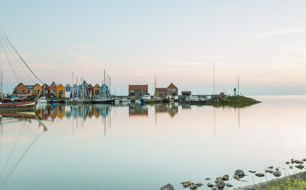 Skyline Stavoren haven in Holland.