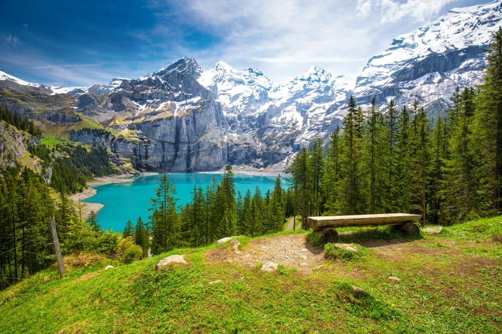 Bergmeer in de Zwitserse Alpen.