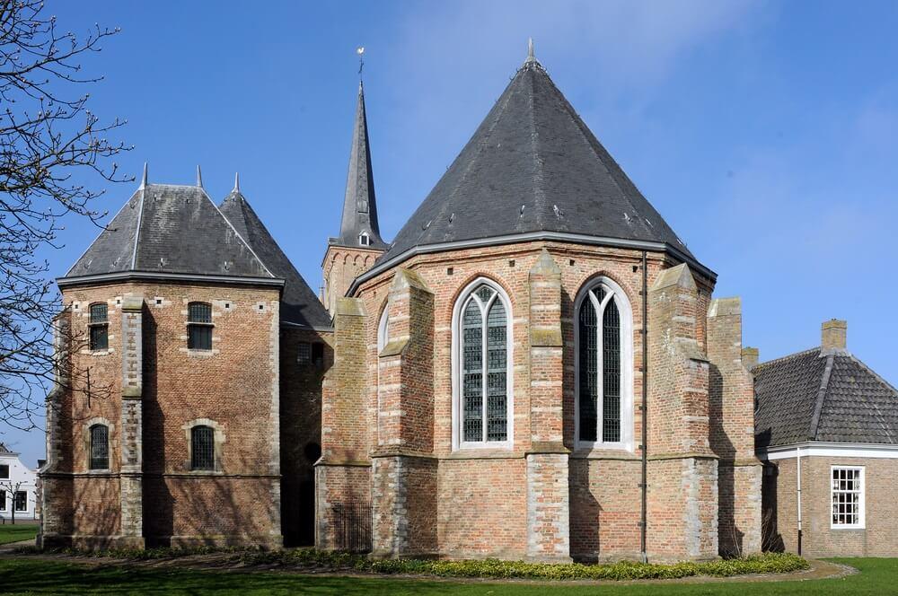 Vintage Kerk in Dreischor, Nederland