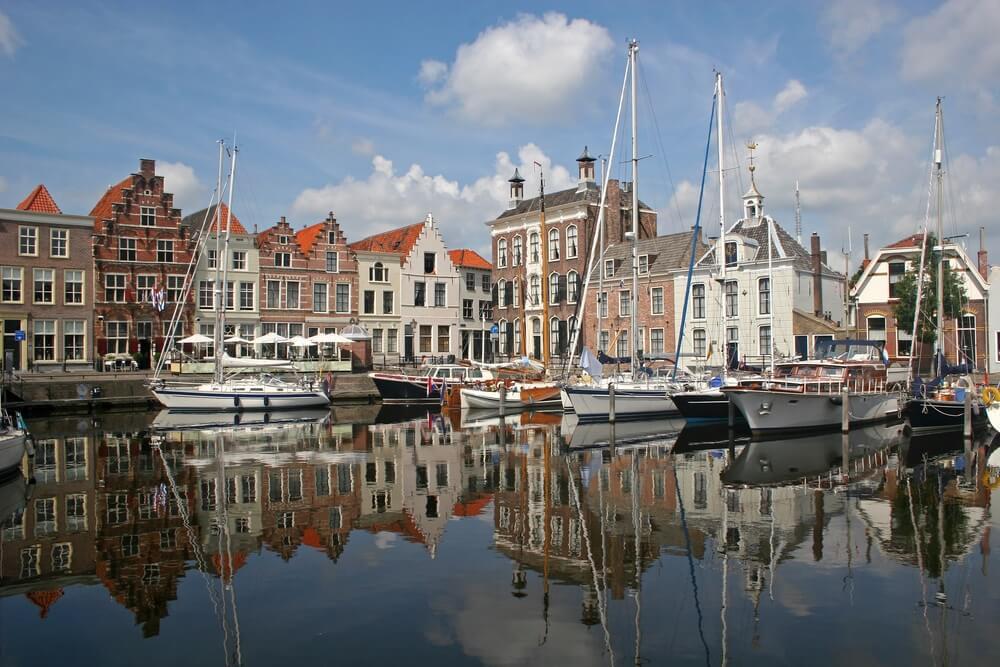 Haven van Goes, Zeeland, Nederland.
