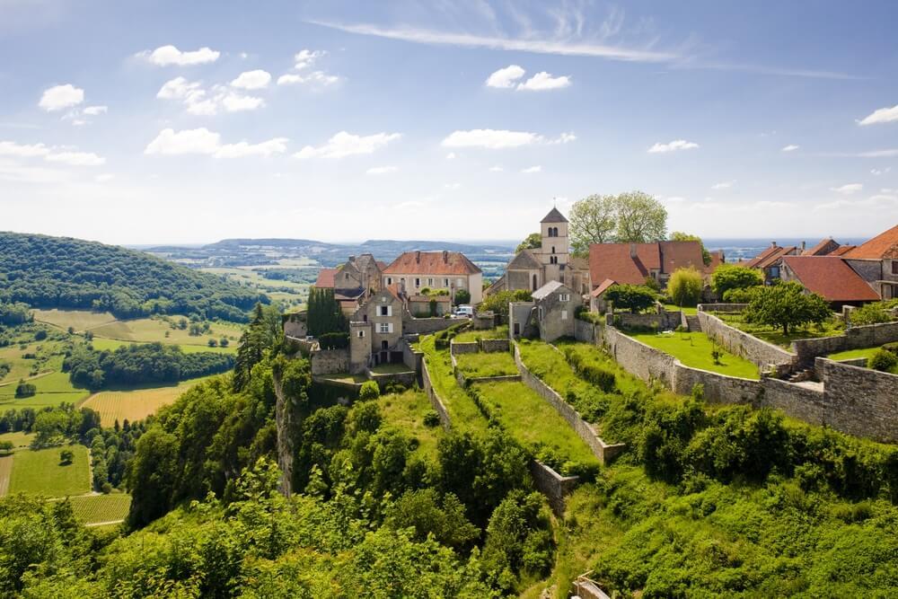 Chalon, departement Jura, Franche-Comté, Frankrijk.