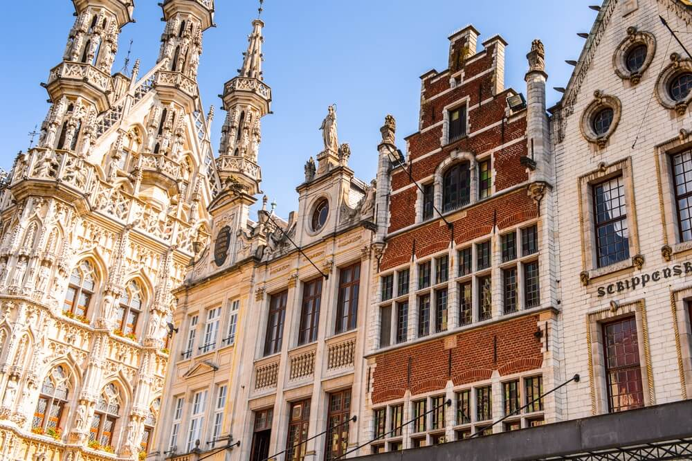 Architectuur in Leuven Vlaams Gewest, België.