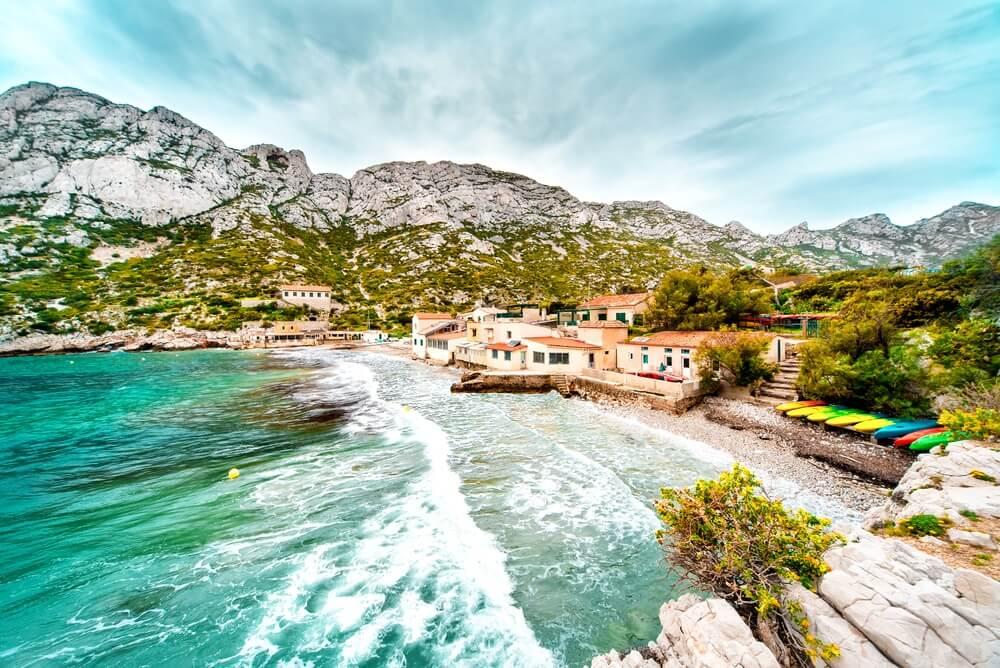 Mooi landschap van Calanque de Sormiou. Zuid Frankrijk.