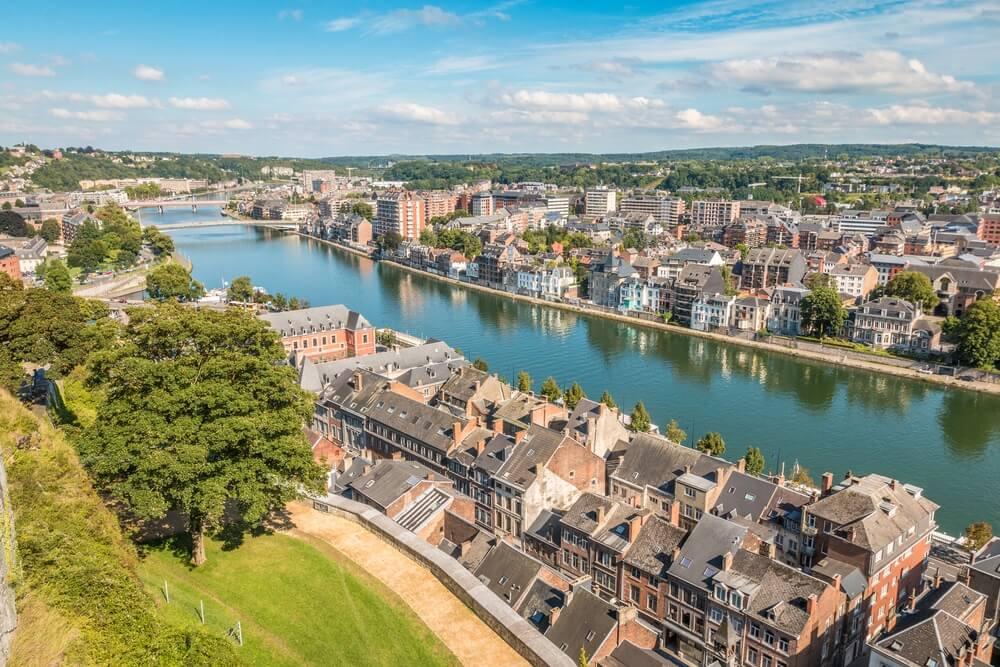 Uitzicht over de stad Namur, België.