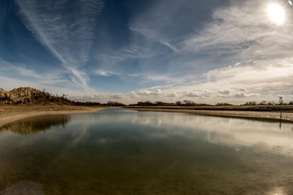 Meer in de duinen, Nederland.  (Bloemendaal)