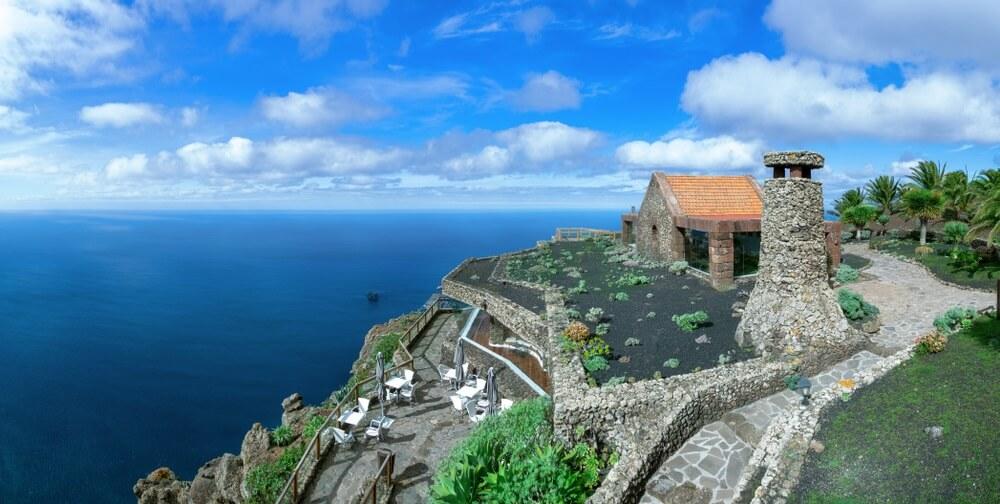 Gezichtspunt Mirador de la Pena op het eiland El Hierro, Canarische Eilanden, Spanje.
