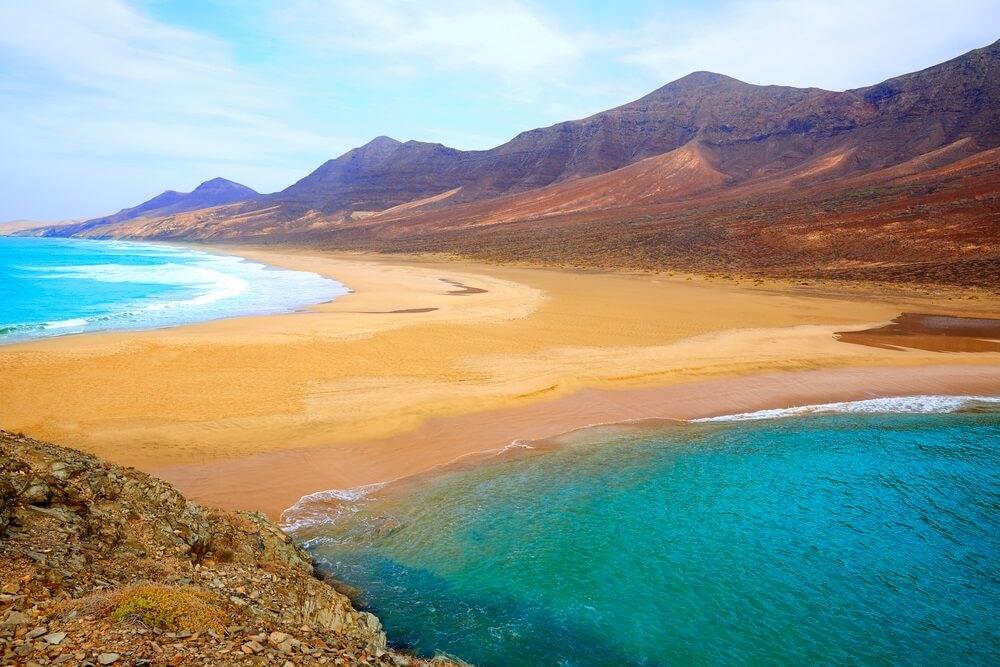 Cofete Fuerteventura Barlovento strand op Canarische Eilanden van Spanje.