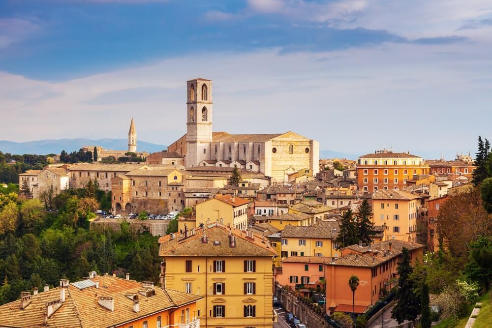 De Basiliek van San Domenico in Perugia.