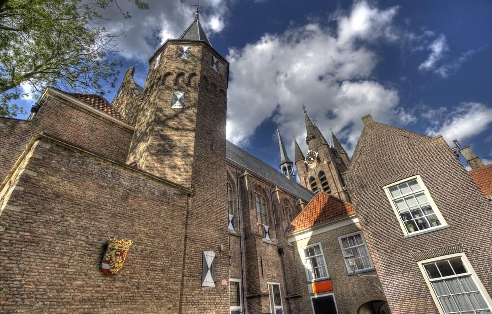 Museum Prinsenhof in het centrum van Delft. Prachtig oud gebouw.
