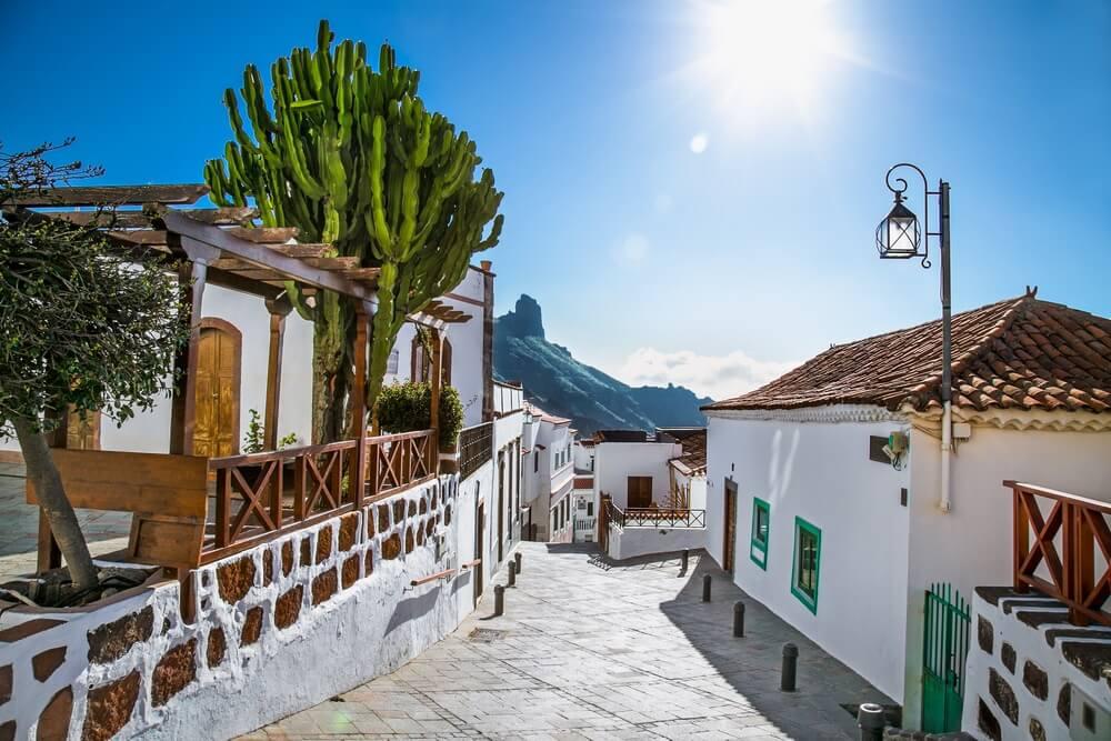 Tejeda dorp op Gran Canaria, Spanje.