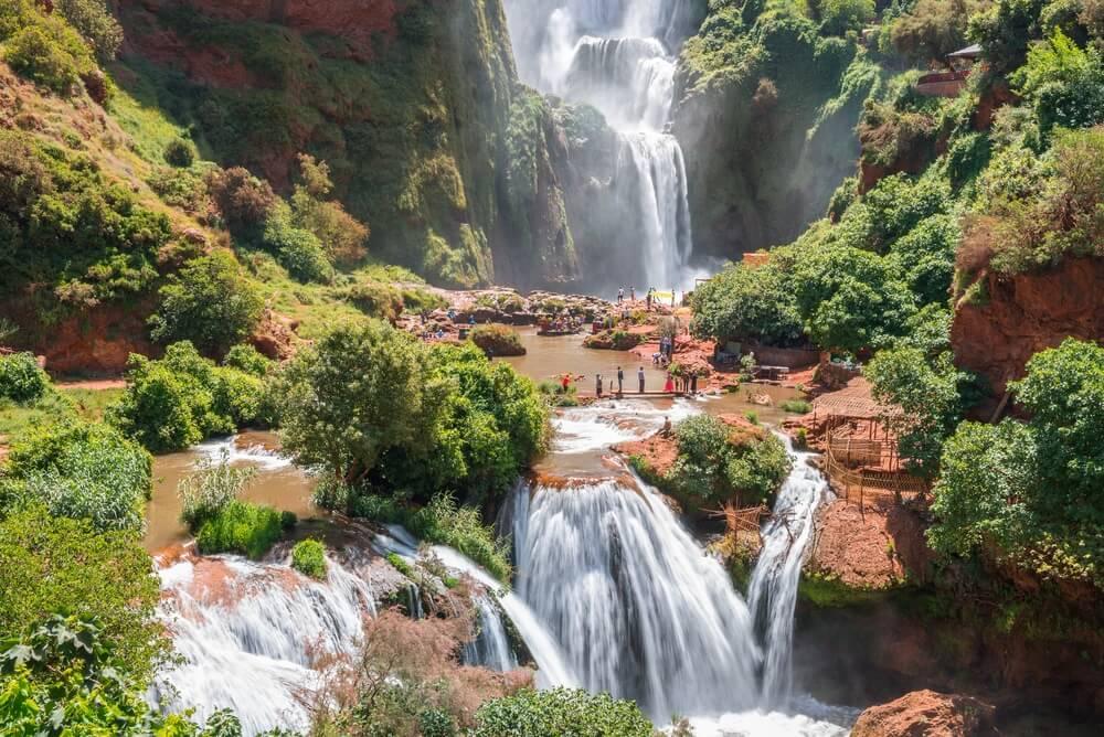 De Ouzoud watervallen; een  van de mooiste bezienswaardigheden in Marokko.
