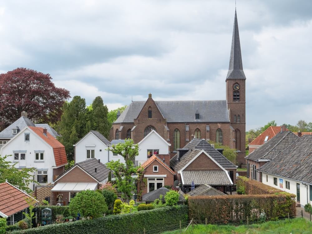 De stad Bredevoort in Nederland.