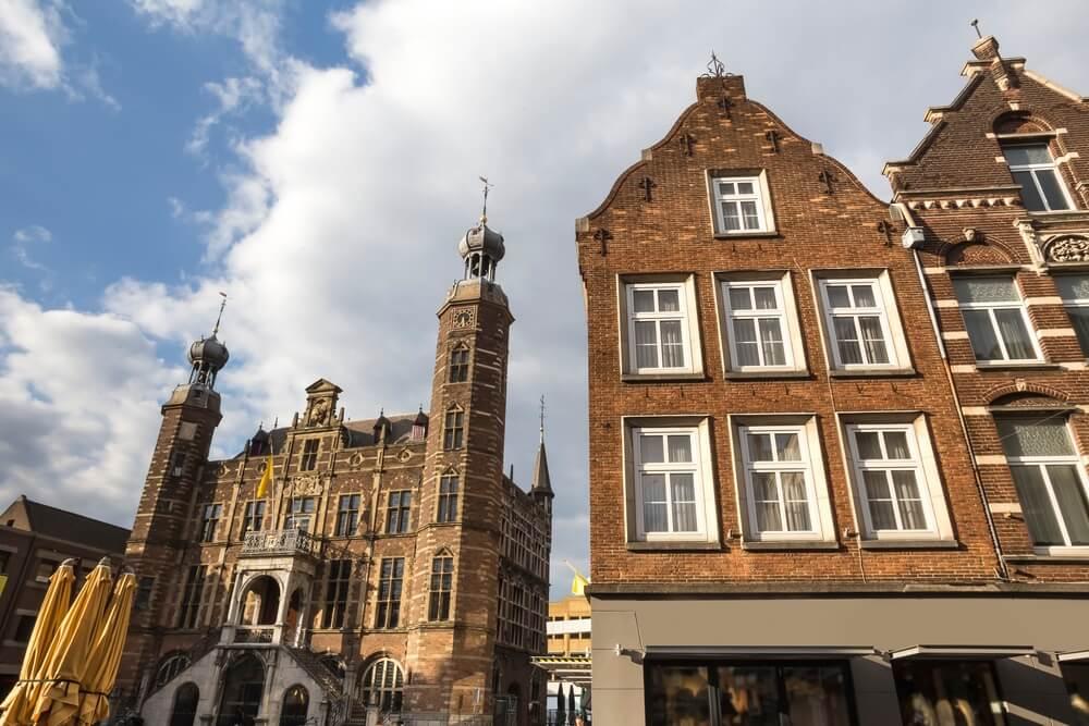 Venlo historisch stadhuis in Nederland.