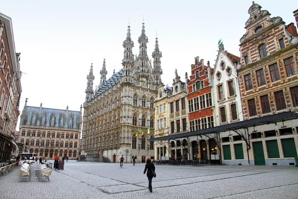 Stadhuis, grote markt, Leuven, Vlaams-Brabant, Vlaanderen, België.