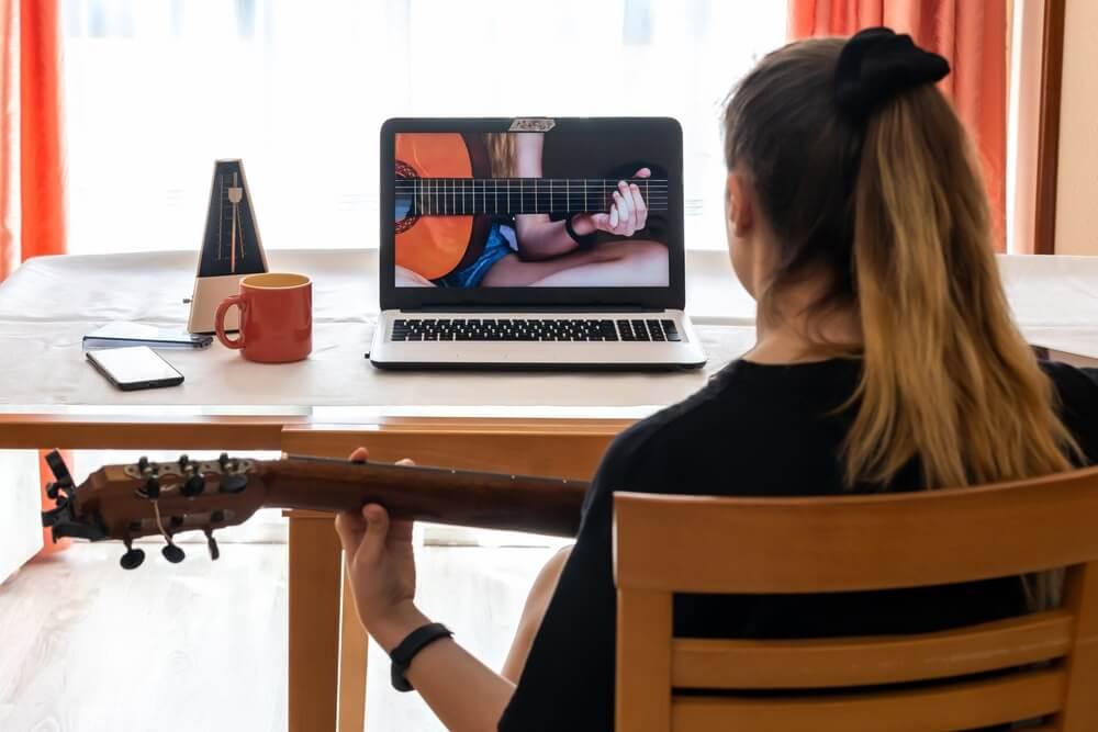 Online cursus gitaarspelen.