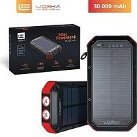 8. Lideka® Solar Powerbank 30000mAh