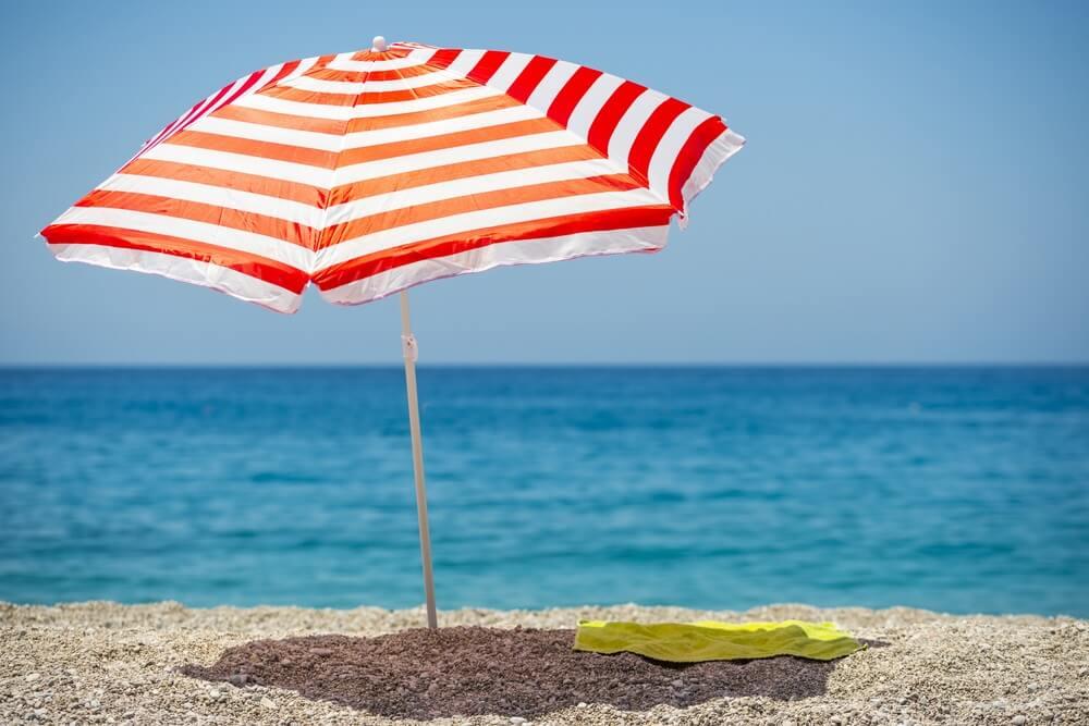 Strandparasol beste