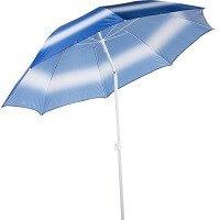 6. Tom Strandparasol 190 Cm Wit blauw