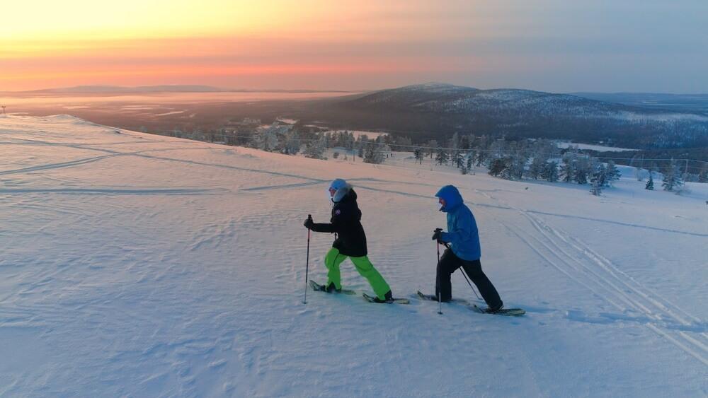 Wandelen met sneeuwraketten