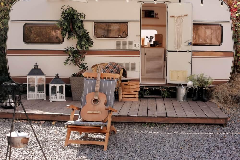 sfeervolle inrichting camper
